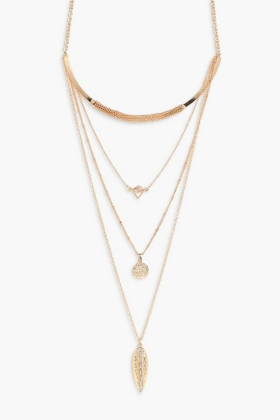 Ellie Leaf Layered Necklace