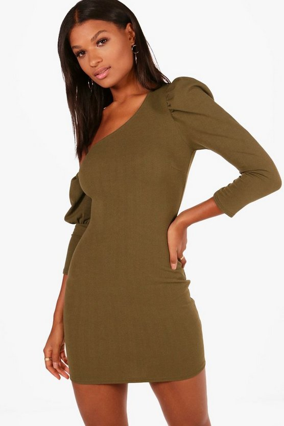 Gracia Puff Sleeve Off the Shoulder Dress