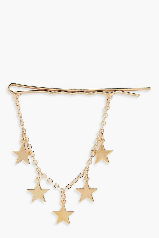 Luna Draped Star Chain Hair Grip