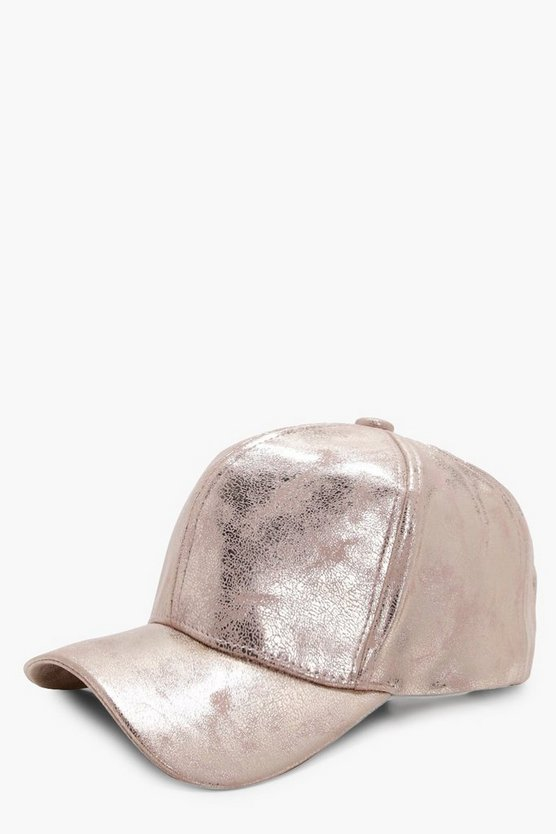 Leila Cracked Metallic Cap