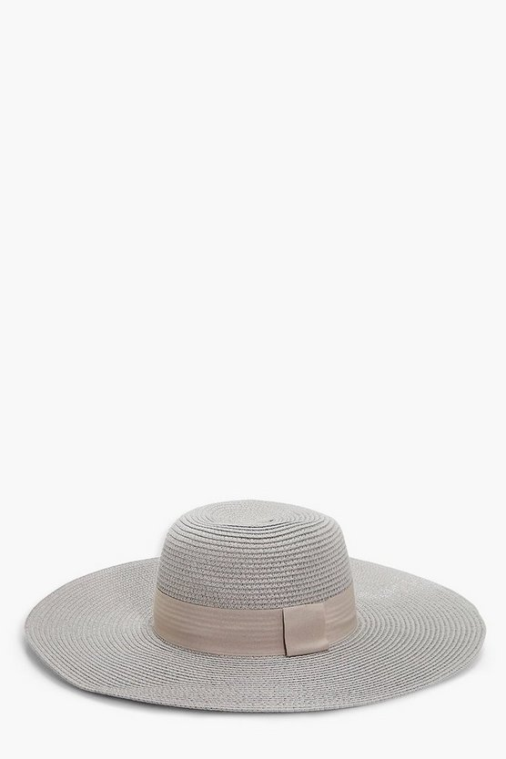 Clara Wide Brim Floppy Straw Hat
