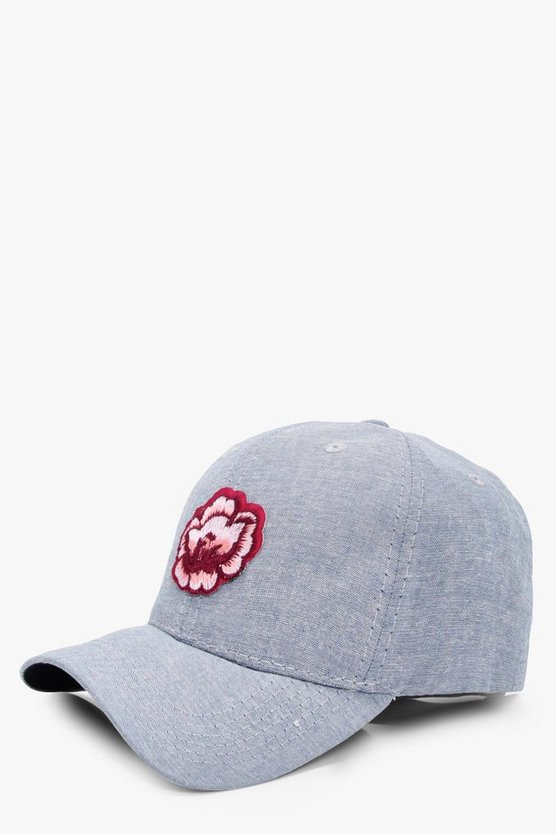 Casey Floral Patch Denim Cap