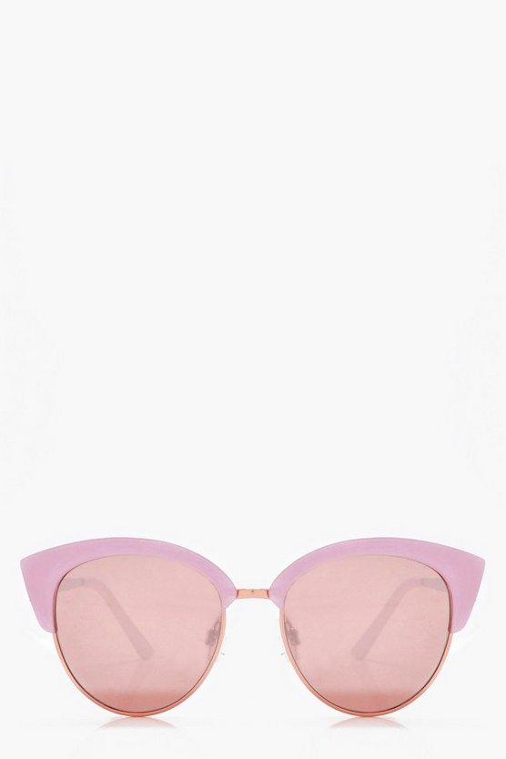Ellen Pink Frame Cat Eye Sunglasses