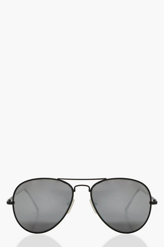 Kirsten Angular Frame Aviator Sunglasses