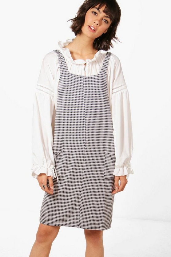 Ella Gingham Pinafore Dress
