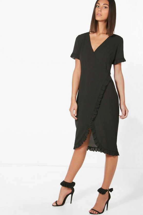 Emily Ruffle Wrap Over Dress