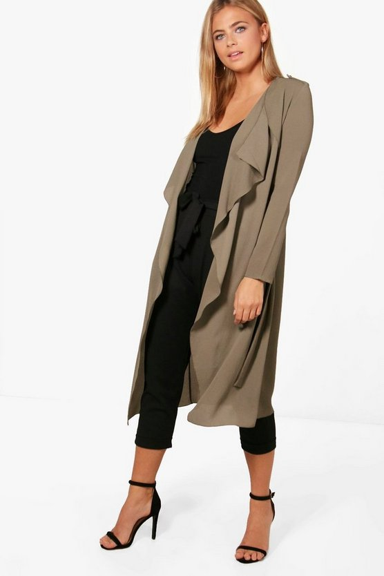 Abigail Waterfall Belted Duster