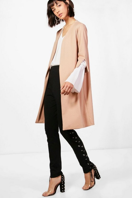 Lauren Collarless Duster