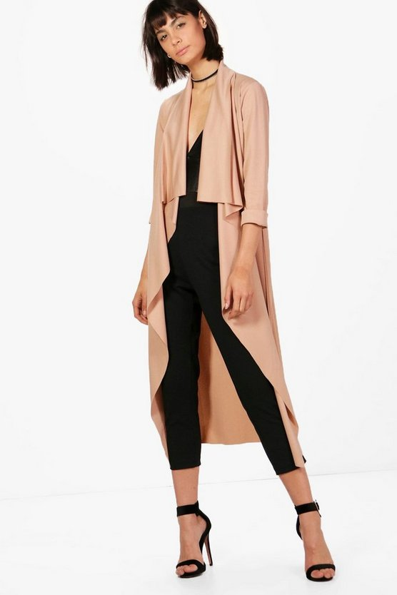 Daisy Shawl Collar Belted Duster