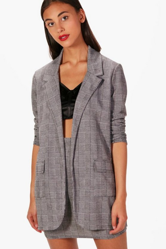 Olivia Check Tailored Blazer