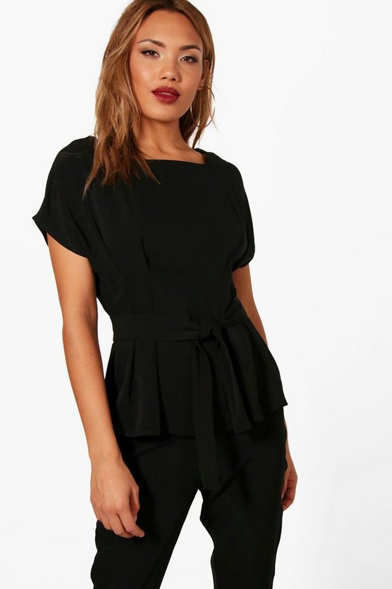 Chelsea Woven Belted Top