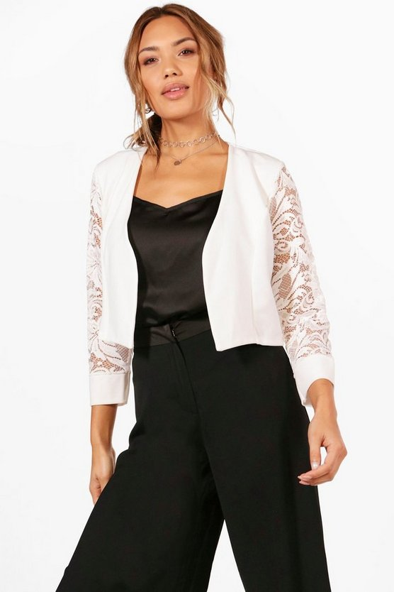 Maddison Lace Edge To Edge Jacket