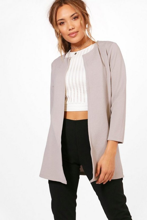 Erin Rib Edge To Edge Duster