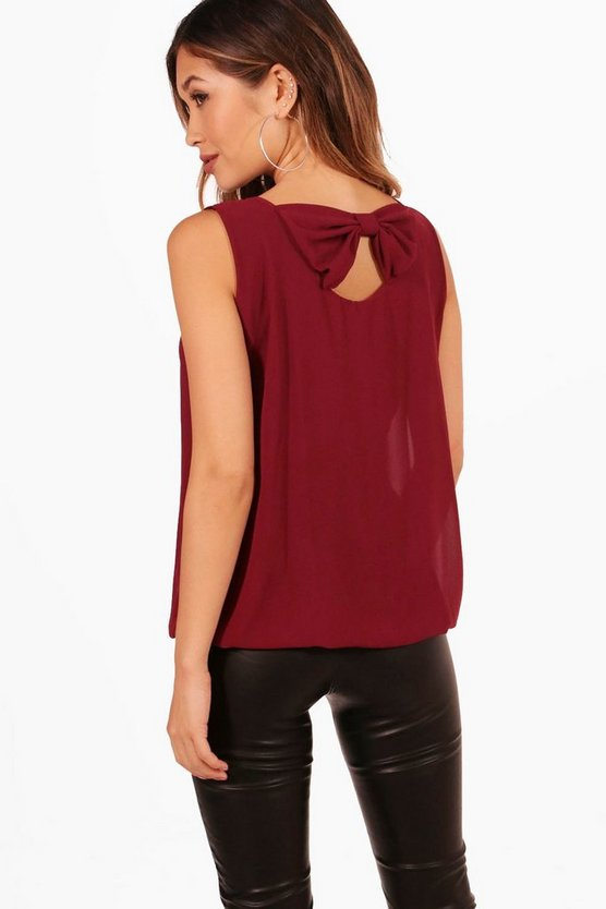 Olivia Bow Back Blouse