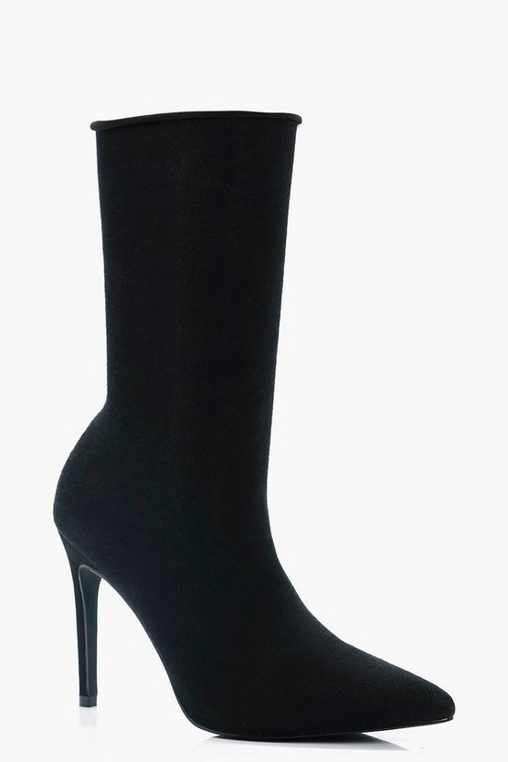 Charlotte Sock Pointed Shoe Boot