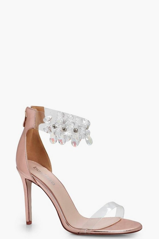 Sophia Jewel Embellished 2 Part Heel