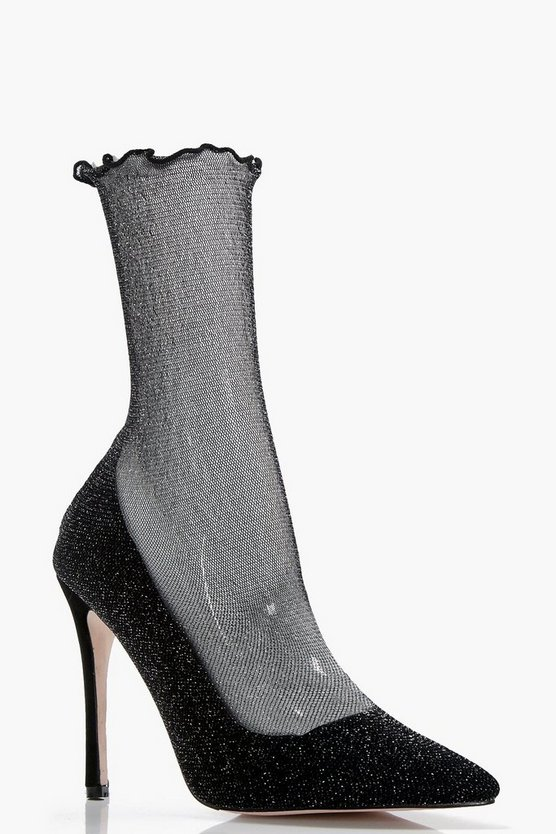 Isabelle Mesh Sock Court Stiletto