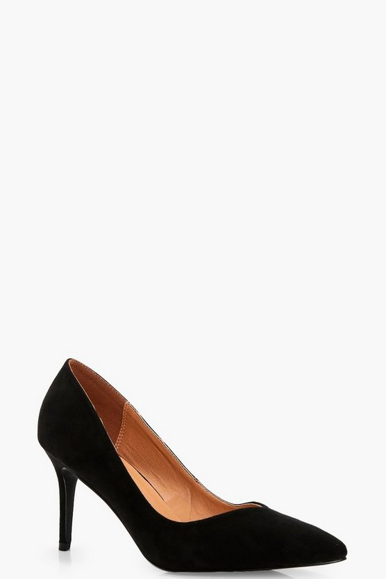 Isabella Pointed Toe V Cut Low Heel