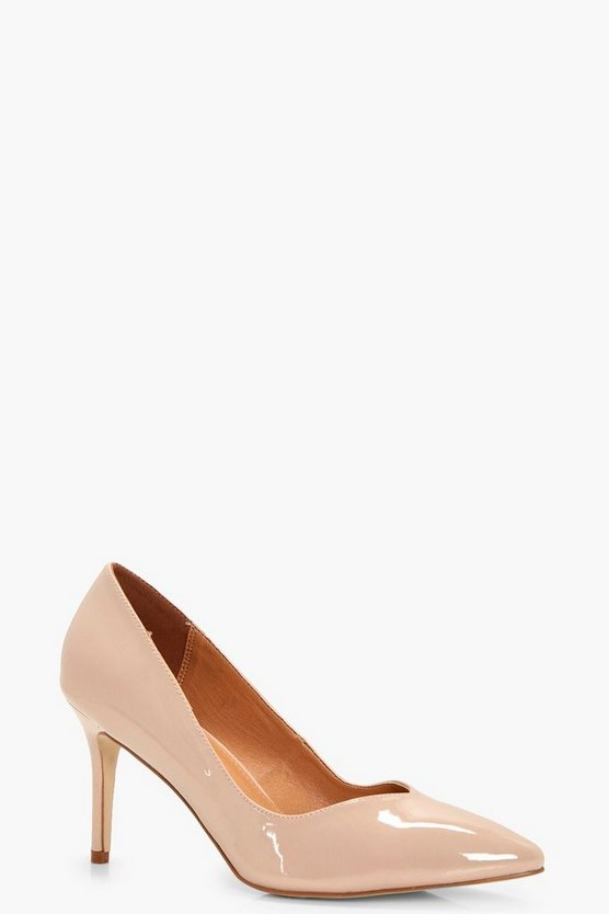 Ava Pointed Toe V Cut Low Heel