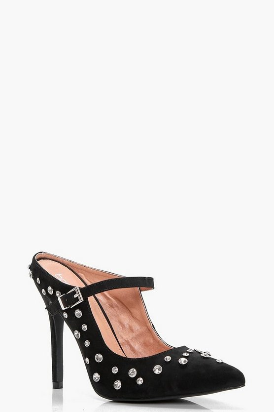 Lily Embellished Stiletto Court Mule