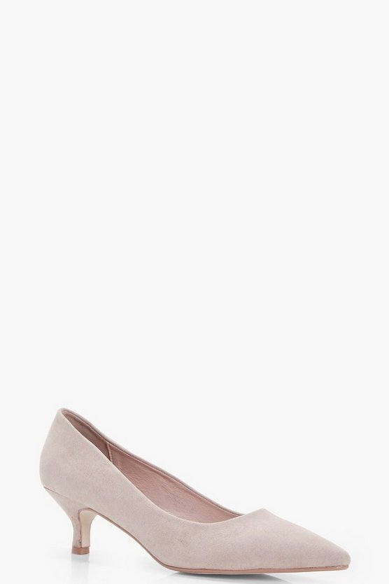 Pointed Kitten Court Heels