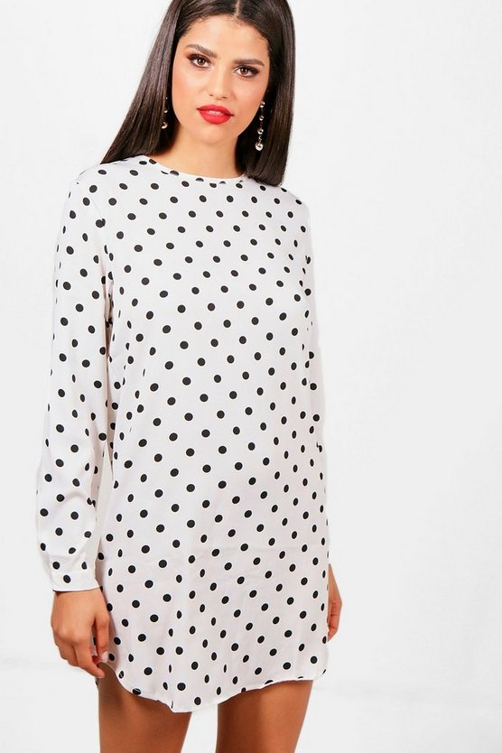 Molly Spot Shift Dress