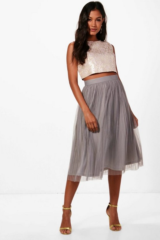 Boutique May Jacquard Top Midi Skirt Co-Ord Set