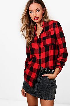 oversized checked lumberjack shirt
