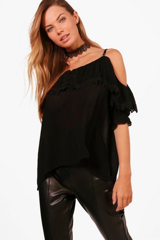 Holly Cold Shoulder Lace Cami