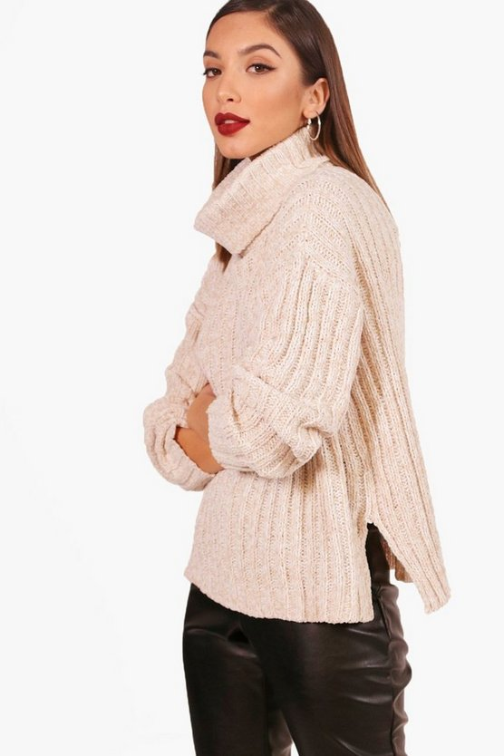 Rebecca Roll Neck Rib Knit Jumper