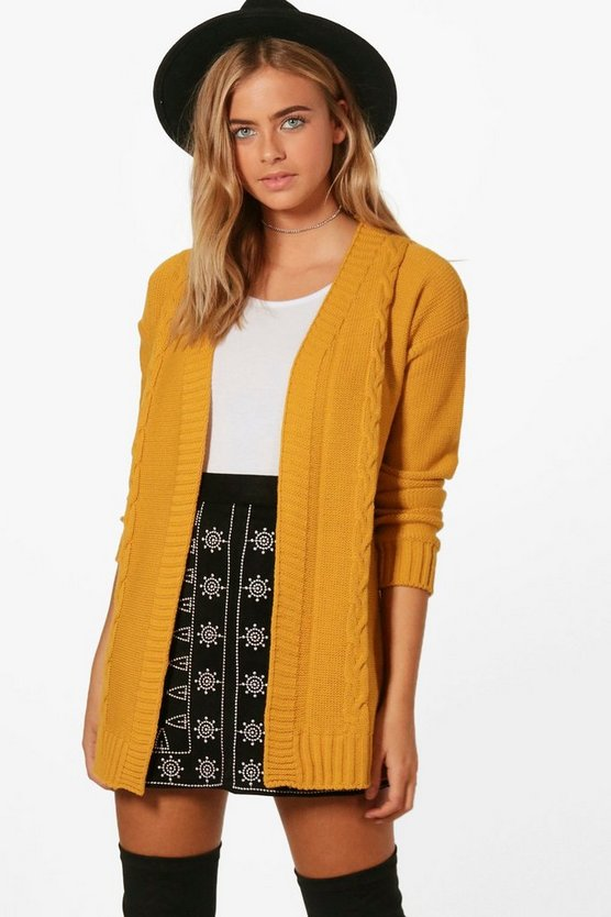 Daisy Edge To Edge Cable Knit Cardigan