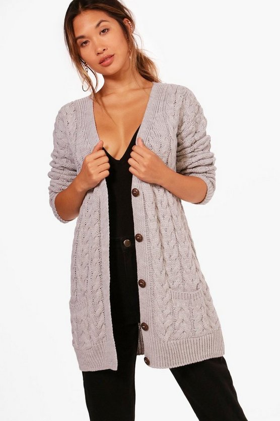 Rachel Cable Knit Cardigan