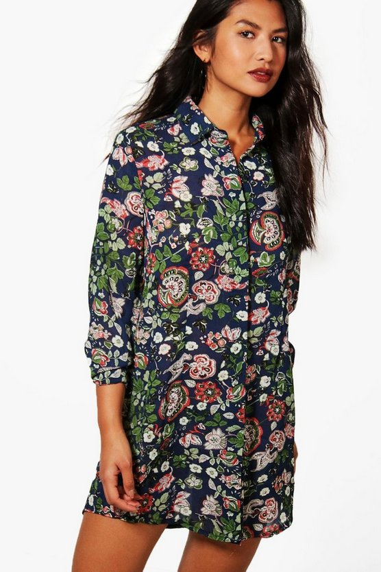 Lucinda Floral Shirt Dress