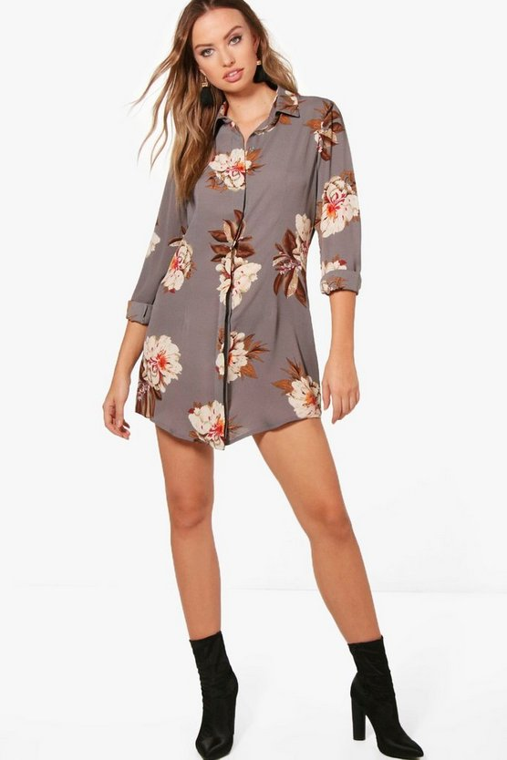 Tammy Floral Shirt Dress