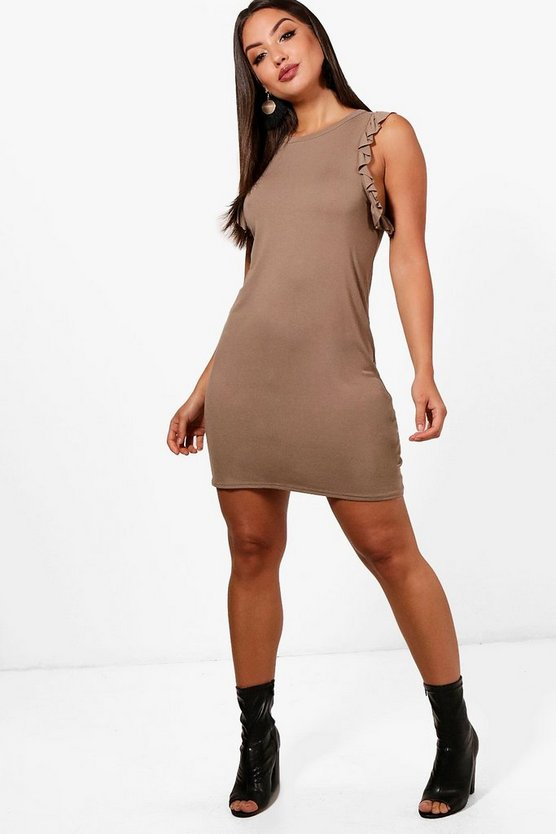 Sophie Ruffle Sleeve Bodycon Mini Dress