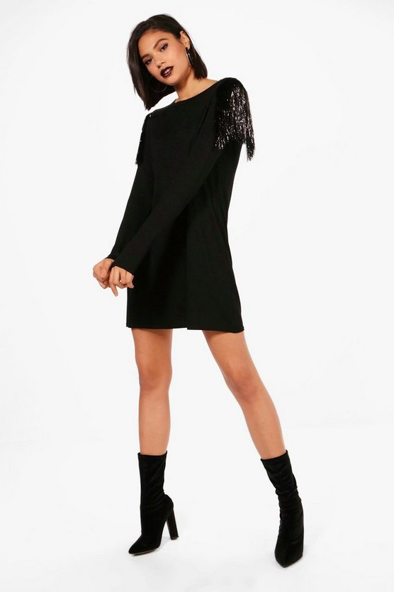 Paige Tassel Trim T-Shirt Dress