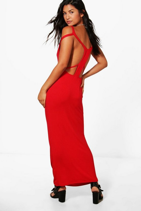 Racer Strappy Back Maxi Dress
