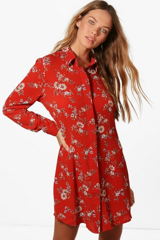 Millie Floral Shirt Dress