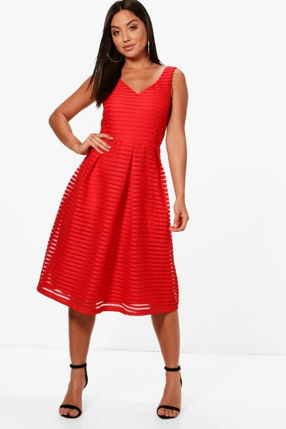 Jodie Panelled Skater Dress