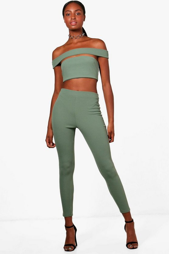 Rebecca Off Shoulder Crop and Trouser Co-ord