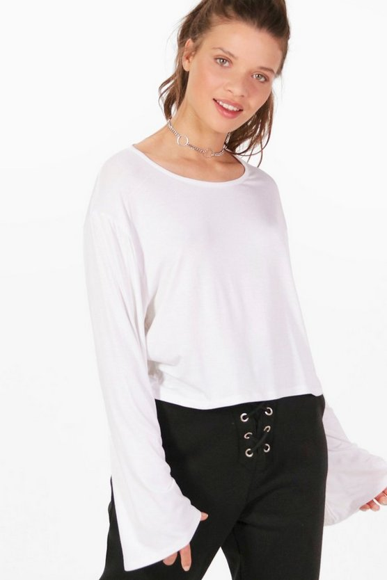 Amy Basic Wide Sleeve Slouchy Top