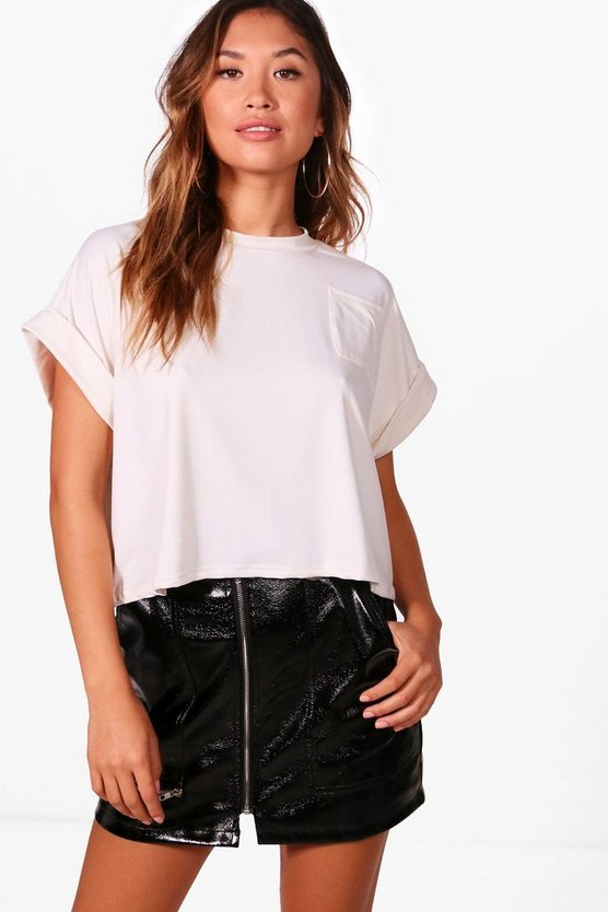 Meggan Basic Pocket Crop Top