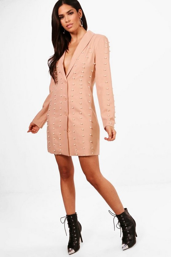 Boutique Pearl Blazer Dress