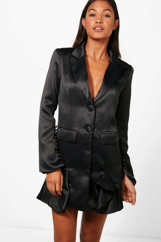 Boutqiue Natalie Frill Hem Detail Blazer Dress