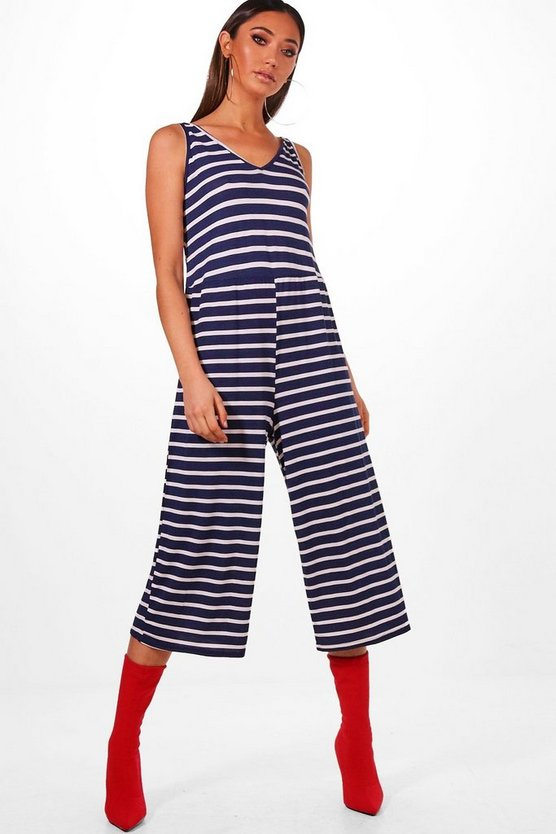 Narla Striped Culotte Jumpsuit