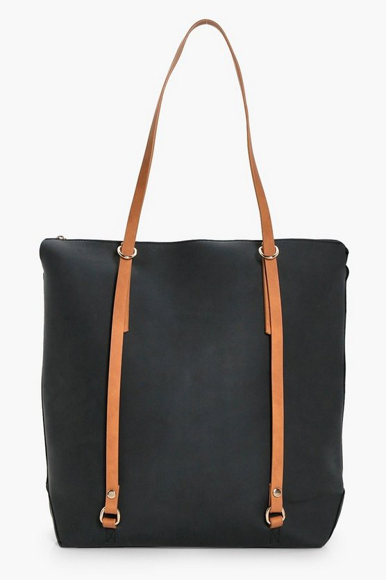 Emily Contrast Handle Shopper