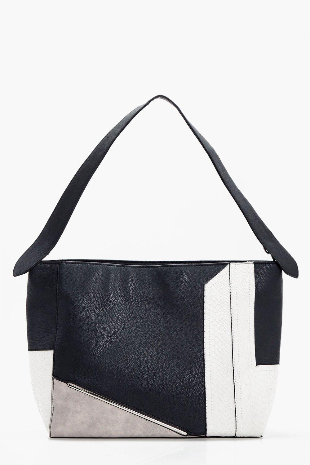 Multi Panel Tote - black - Millie Multi Panel Tote
