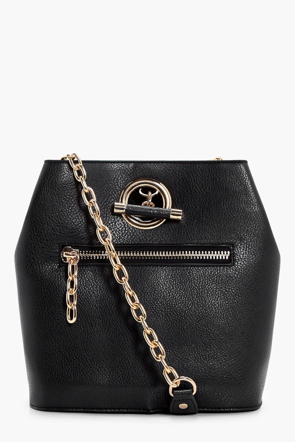 Ring And Zips Cross Body - black - Hannah Ring And