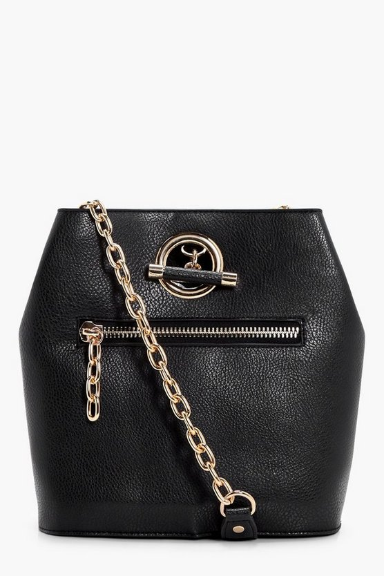 Hannah Ring And Zips Cross Body