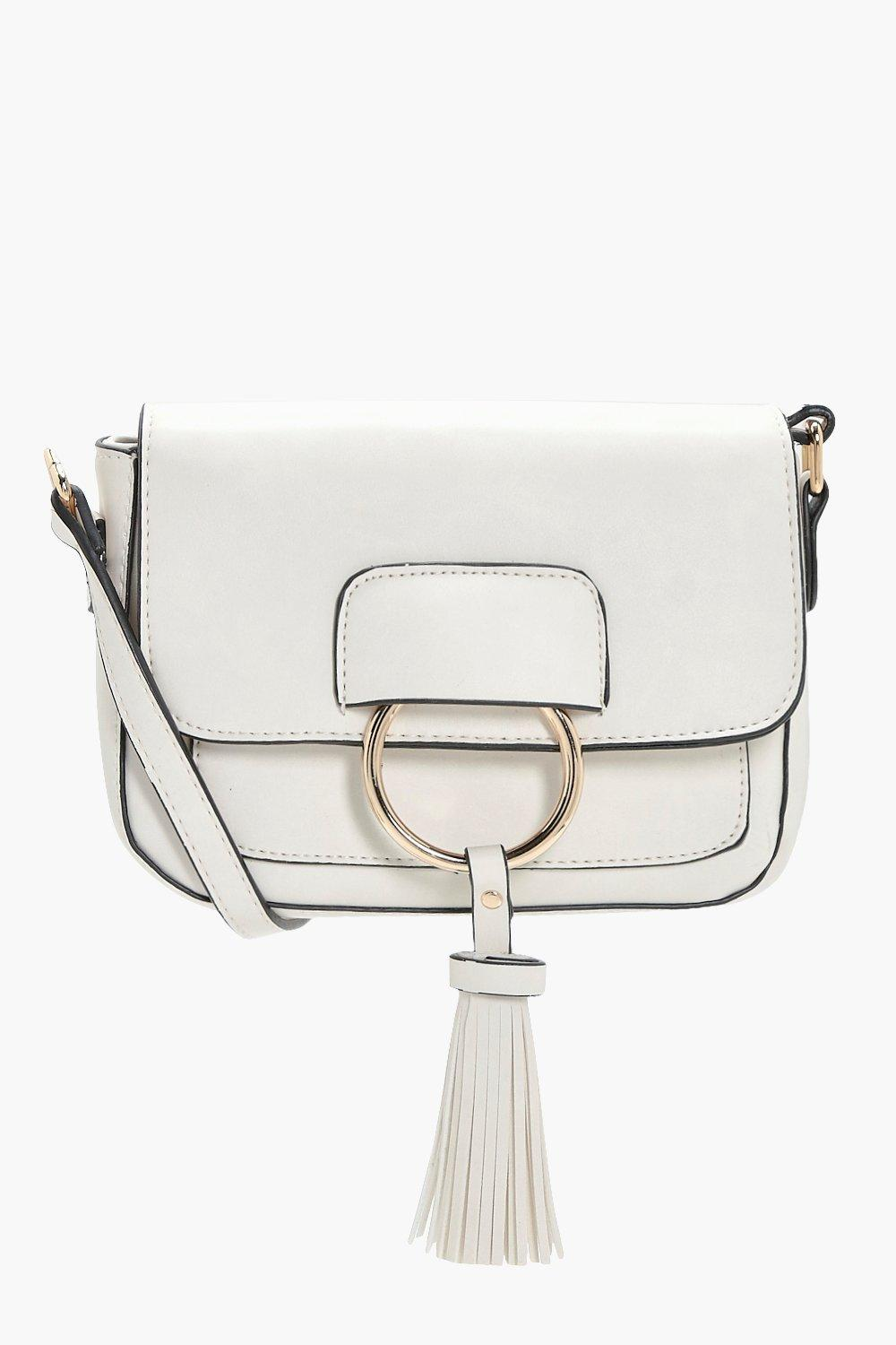 Ring And Tassel Cross Body - cream - Abigail Ring